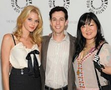 "From left, April Bowlby, Josh Berman and Margaret Cho celebrate the first season of ""Drop Dead Diva"" in 2009. Photo by Kevin Parry/Lifetime Networks."