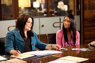 Brooke Elliot (left) and guest star Brandy Norwood. Photo by Bob Mahoney.