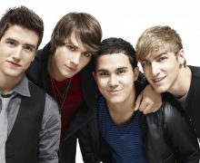 Pictured: (l-r) Logan (Logan Henderson), James (JamesMaslow), Carlos (Carlos Pena) and Kendall (Kendall Schmidt) in BIG TIME RUSH on Nickelodeon. Photo: Ben Watts/Nickelodeon. ©2010 Viacom, International, Inc. All Rights Reserved