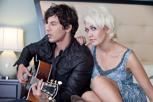 Joshua Scott Jones (left) and Meghan Linsey of Steel Magnolia. Photo by Ryan Smith/Courtesy of Big Machine Records.