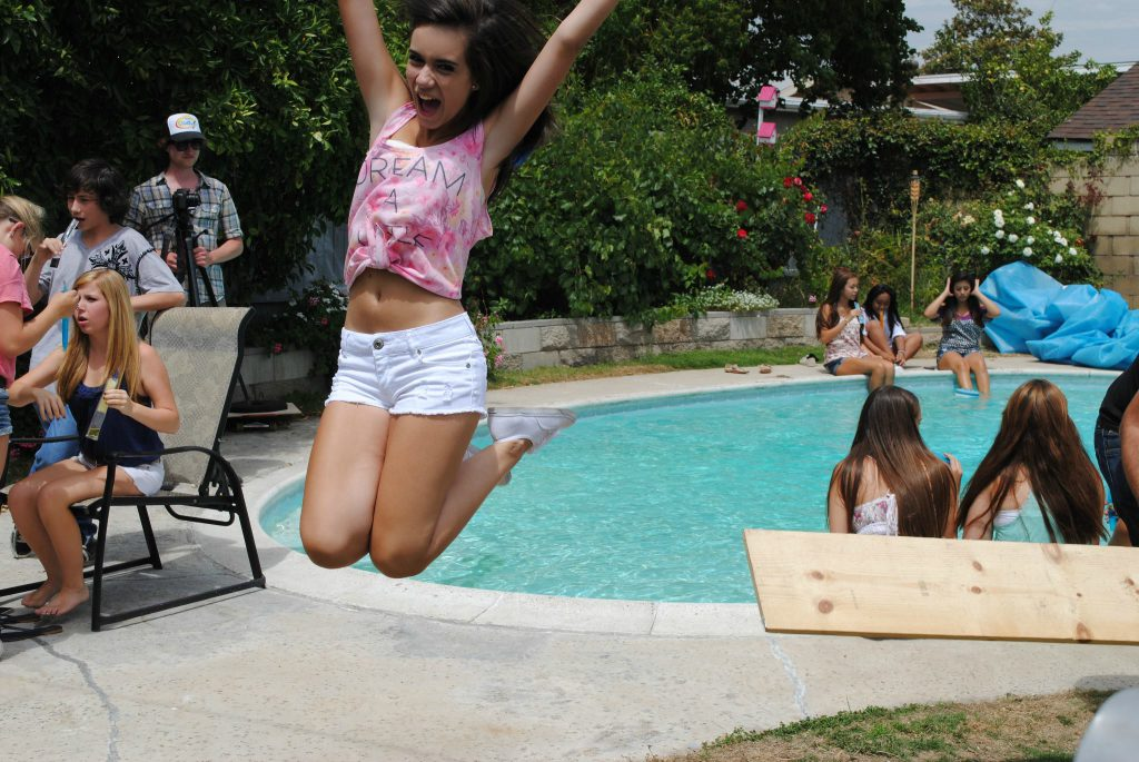 """Aviella Winder films her music video for """"Crazy Thing."""""""