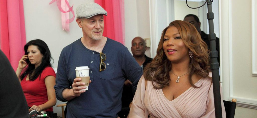 Executive Producer Neil Meron and Executive Producer and star Queen Latifah behind the scenes of the all-new Lifetime Original Movie, Steel Magnolias. Photo by Eric Liebowitz. Copyright 2011.
