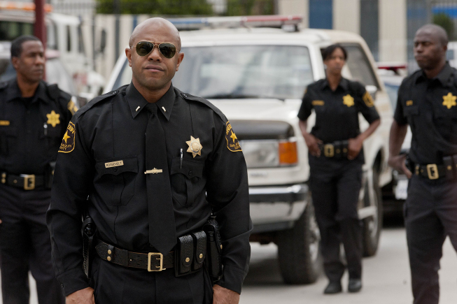 "Rockmond Dunbar stars as Sheriff Eli Roosevelt in ""Sons of Anarchy."""