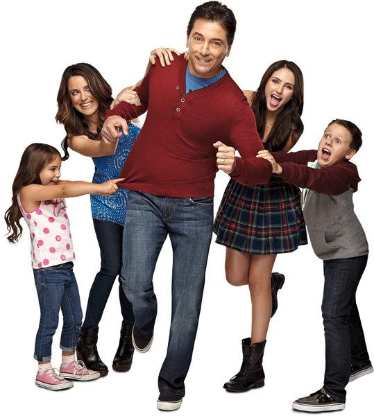 "From left, Bailey Michelle Brown, Alanna Ubach, Scott Baio, Ryan Newman and Jackson Brundage star in ""See Dad Run"" on Nick at Nite."