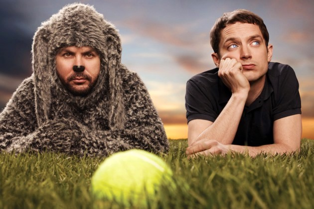 "Jason Gann and Elijah Wood star in ""Wilfred."""