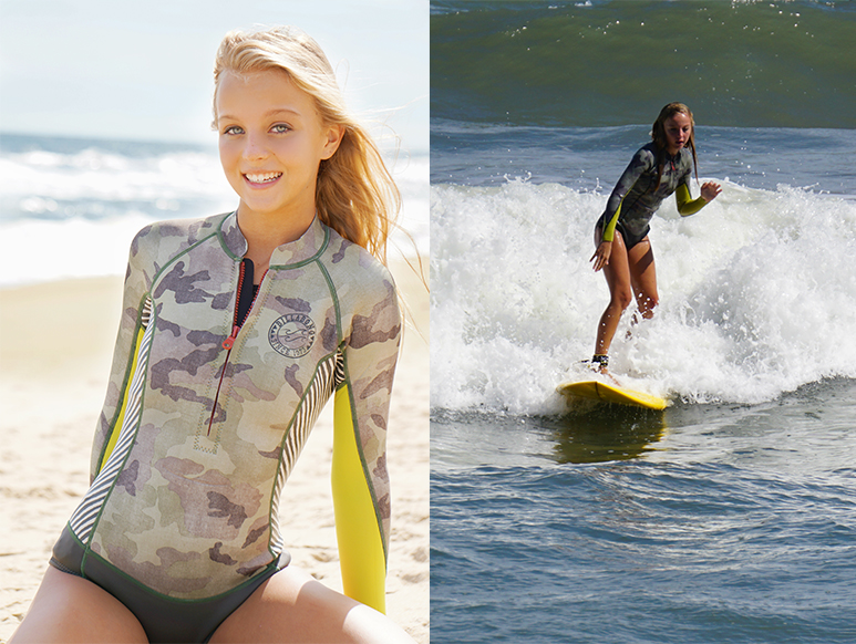 Morgan Cryer enjoys surfing on the East Coast.