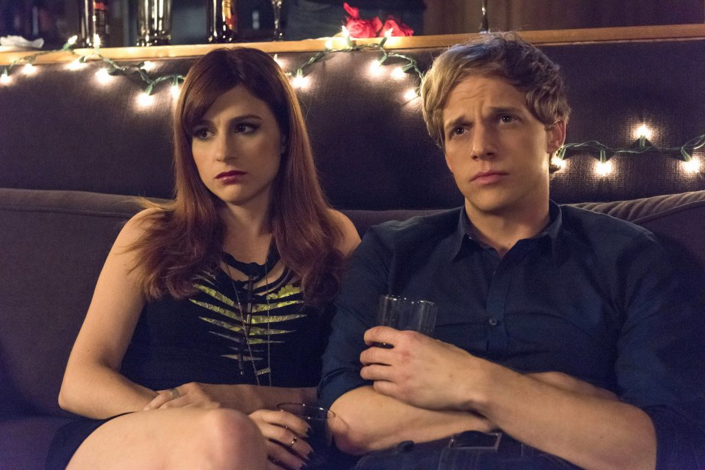 Aya Cash as Gretchen, Chris Geere as Jimmy. Photo by Prashant Gupta/FX.