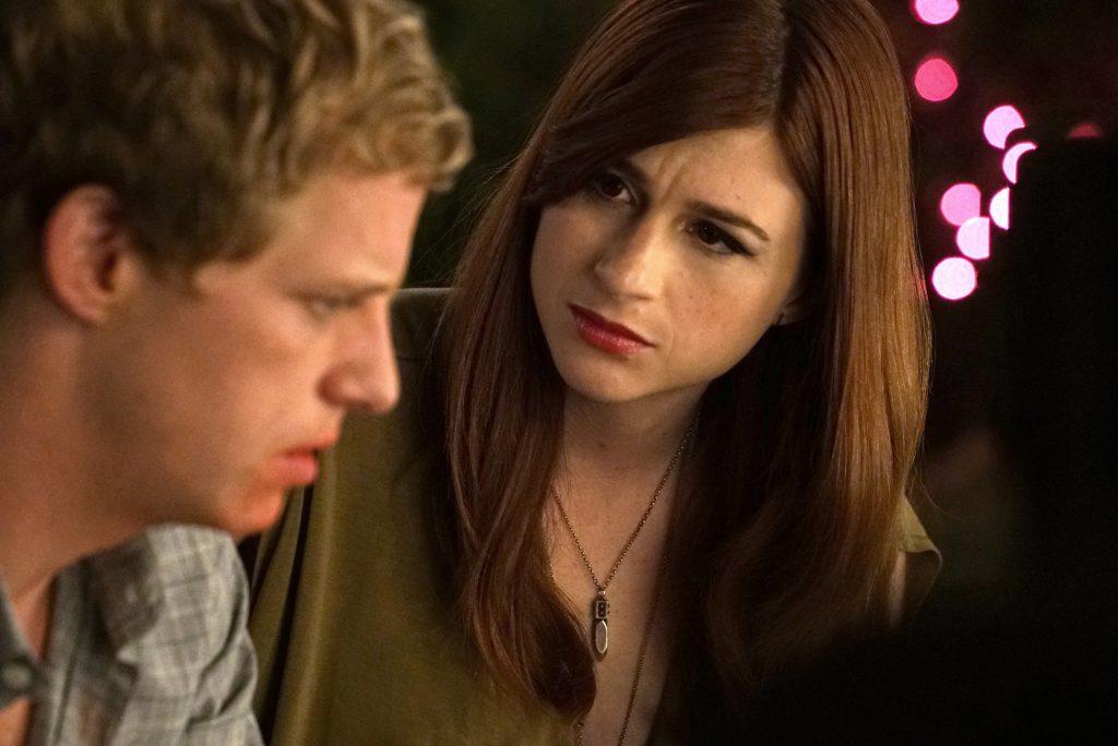 "Aya Cash as Gretchen and Chris Geere as Jimmy in ""You're the Worst."" Photo by Byron Cohen/FX."